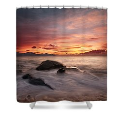 Celtic Sunset Shower Curtain by Beverly Cash