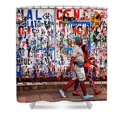 Cenal Truckin' Shower Curtain by Skip Hunt
