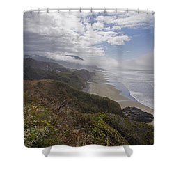 Central Oregon Coast Vista Shower Curtain by Mick Anderson