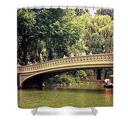 Central Park Romance - Bow Bridge - New York City Shower Curtain by Vivienne Gucwa