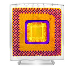 Central Processor Shower Curtain by Ted Kinsman
