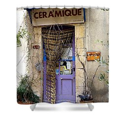 Ceramique Shower Curtain by Lainie Wrightson