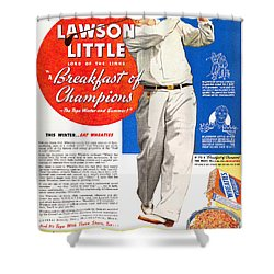 Cereal Advertisement, 1937 Shower Curtain by Granger