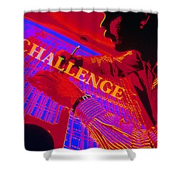 Challenge Shower Curtain by Jerry McElroy