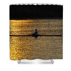 Challenge Yourself Shower Curtain by Bill Cannon