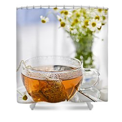 Chamomile Tea Shower Curtain by Elena Elisseeva