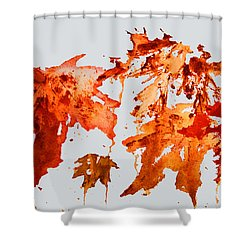 Changing Season Shower Curtain by Barbara McMahon