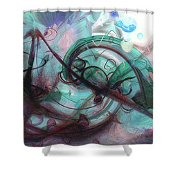 Chaos Shower Curtain by Linda Sannuti