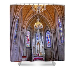 Chapel At Sacred Heart Cathedral Shower Curtain by Dave Mills