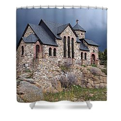 Chapel On The Rocks No. 1 Shower Curtain by Dorrene BrownButterfield