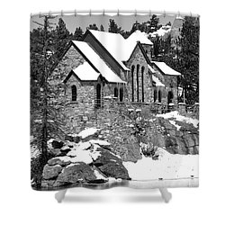 Chapel On The Rocks No. 2 Shower Curtain by Dorrene BrownButterfield