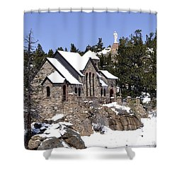 Chapel On The Rocks No. 3 Shower Curtain