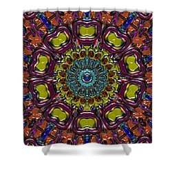 Shower Curtain featuring the digital art Chapel Window by Alec Drake