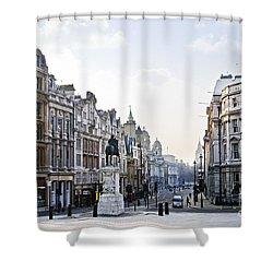 Charing Cross In London Shower Curtain by Elena Elisseeva