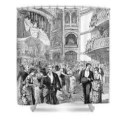 Charity Ball, 1880 Shower Curtain by Granger