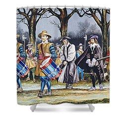 Charles I's Last Walk  Shower Curtain by Ron Embleton