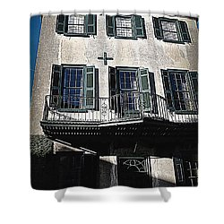 Charleston Houses Shower Curtain by Susanne Van Hulst