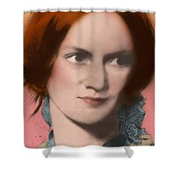 Charlotte Bronte, English Author Shower Curtain by Science Source