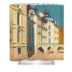 Chateau De Cheverny Shower Curtain by Georgia Fowler