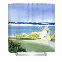 Chatham Harbor July Shower Curtain by Joseph Gallant