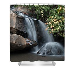Shower Curtain featuring the photograph Chau-ram Falls by Lynne Jenkins