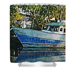 Chauvin La Blue Bayou Boat Shower Curtain