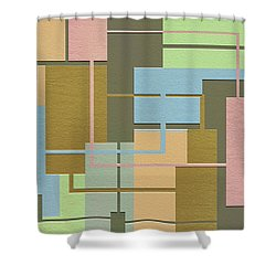 Check Shower Curtain by Ely Arsha