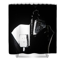 Cheers Before The Kiss Shower Curtain by Jenny Rainbow