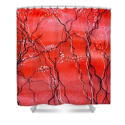 Cheery Blossom Shower Curtain by Anil Nene