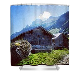 Cheese Huts In The Swiss Alps Shower Curtain