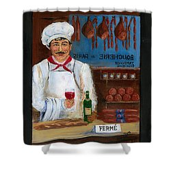 Chef At Days End Shower Curtain by Marilyn Dunlap