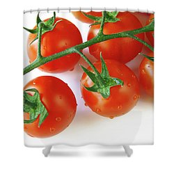 Cherry Tomatoes Shower Curtain by Carlos Caetano