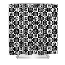 Chess Board Shower Curtain by Sumit Mehndiratta