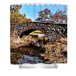 Chester County Bow Bridge Shower Curtain by Bill Cannon