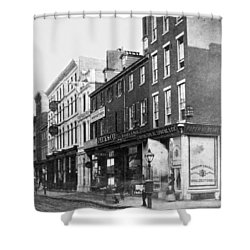 Chestnut Street - South Side Of Philadelphia - C 1870 Shower Curtain by International  Images