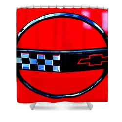 Shower Curtain featuring the digital art Chevrolet Corvette by Tony Cooper