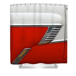 Chevy Door Shower Curtain by Frozen in Time Fine Art Photography
