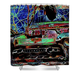 Chevy Long Gone Shower Curtain