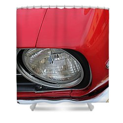 Shower Curtain featuring the photograph Chevy S S Emblem by Bill Owen