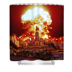 Chicago Disintegrates As A Nuclear Shower Curtain by Ron Miller