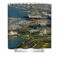 Chicagos Lakefront Museum Campus Shower Curtain by Steve Gadomski