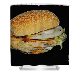Shower Curtain featuring the photograph Chicken Sandwich by Cindy Manero