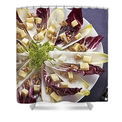 Chicory Salad Shower Curtain by Joana Kruse