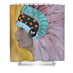 Shower Curtain featuring the painting Chief by Maria Urso