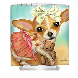 Chihuahua Princess Shower Curtain