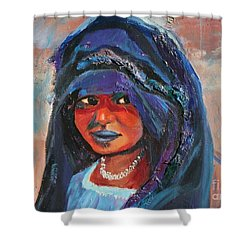 Child Bride Of The Sahara - Close Up Shower Curtain