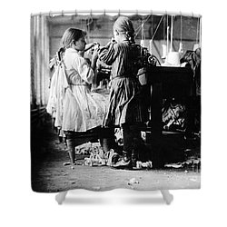 Child Labor Shower Curtain by Omikron