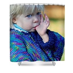 Childhood Shower Curtain by Lisa Phillips