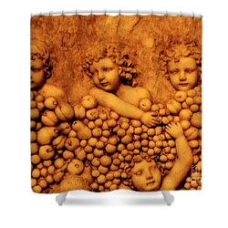 Children Among The Grapes Shower Curtain by Annie Zeno