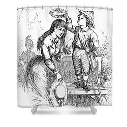 Children: Love Shower Curtain by Granger